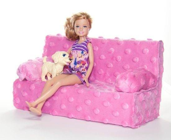 Easy Diy Barbie Couch Mini Playscale Doll Furniture Pinterest