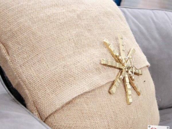 Easy Sew Diy Burlap Pillow Covers Decorative