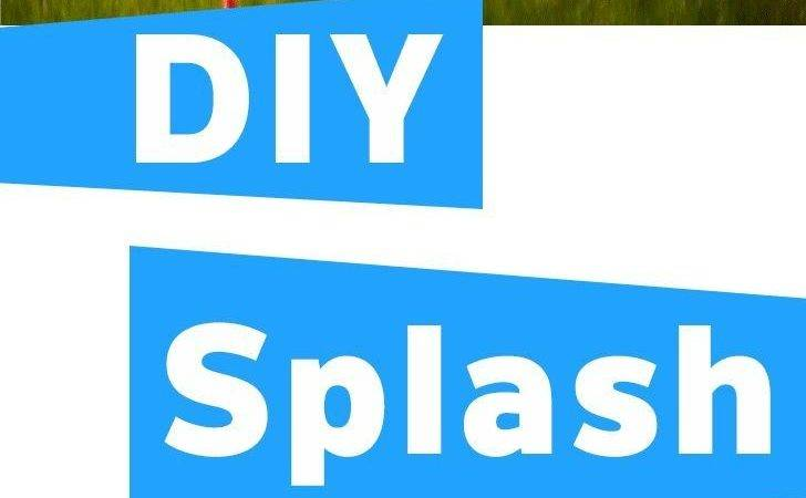 Easy Way Diy Splash Pad Contain Water