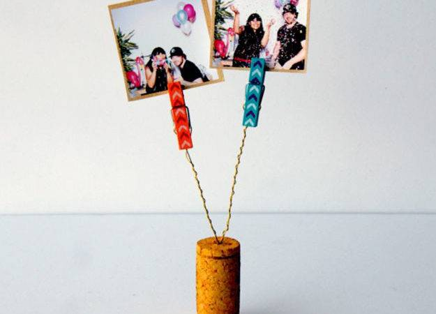 Easy Wine Cork Crafts Holder Diy Clothespin