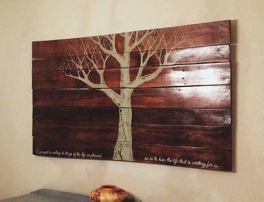 Eco Art Reclaimed Pallet Wood Wall Hanging