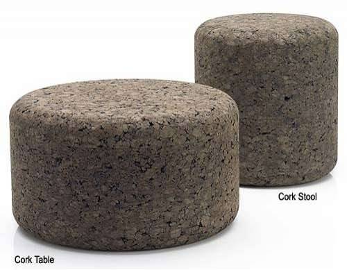 Eco Friendly Cork Furniture Table Stool