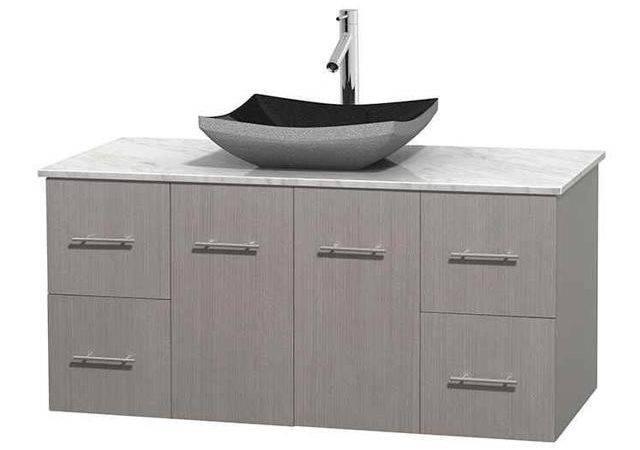 Eco Friendly Single Bathroom Vanity Altair Black Granite Sink