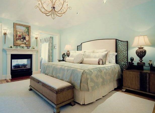 Elegant Baby Blue Bedroom Bench Hgtv