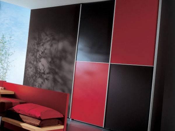 Elegant Black Red Bedroom