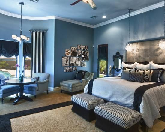 Elegant Blue Bedroom Beautiful Homes Design