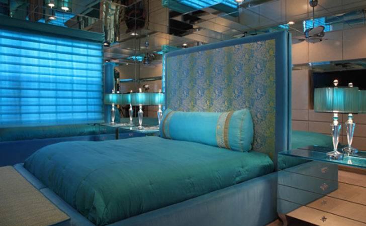 Elegant Blue Brown Bedrooms