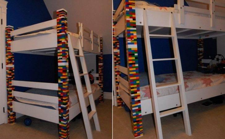Elegant Bunk Bed Custom Made Recycled Lego Bricks Homecrux