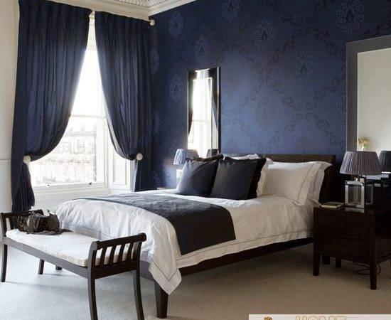 Elegant But Not Flashy Light Carpet Coupled Dark Blue