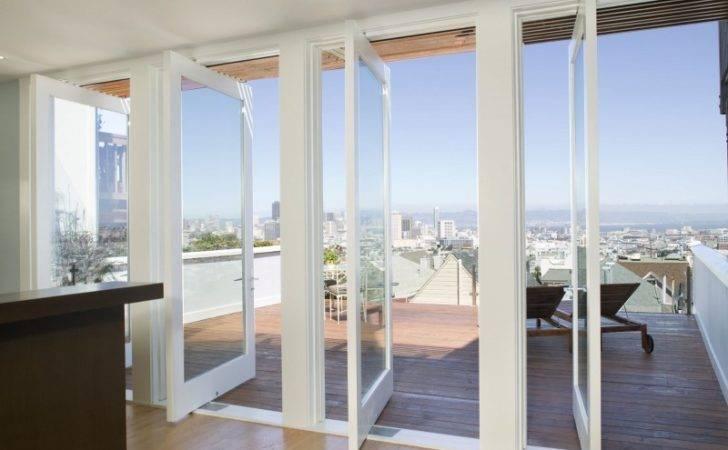 Elegant Furniture White Glazed Doors Balcony Outside