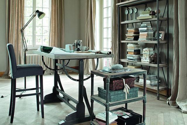 Elegant Industrial Home Office Ideas Furniture Design