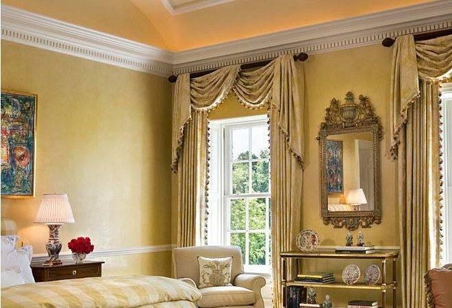 Elegant Master Bedroom Cream Needlepoint Rug Blue