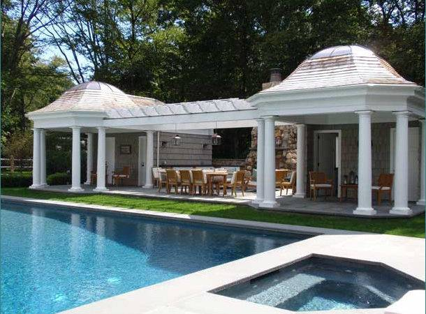 Elegant Pool House Designs Modern Classic Home Design Ideas