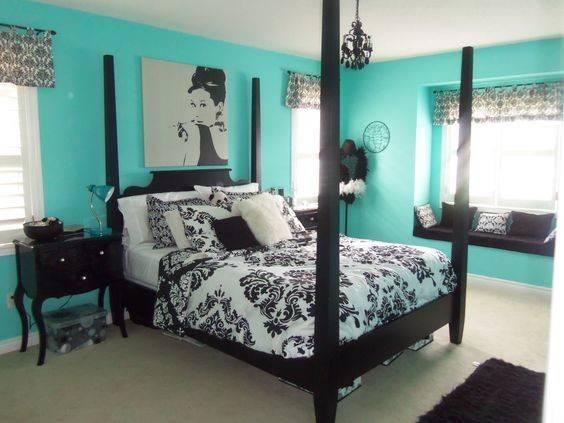 Elegant Teal Black Bedrooms Furniture Girls Bedroom