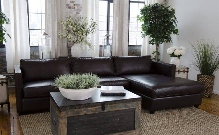 Elements Fine Home Furnishings Urb Sec Urban Leather Sectional Atg