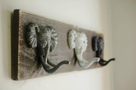 Elephant Trio Wall Decor Hanging Light Pineknobsandcrickets