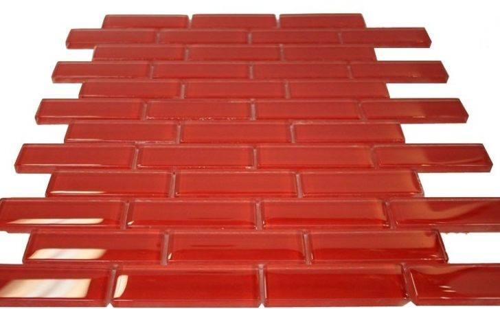 Elixir Ruby Red Brick Glass Mosaic Tile