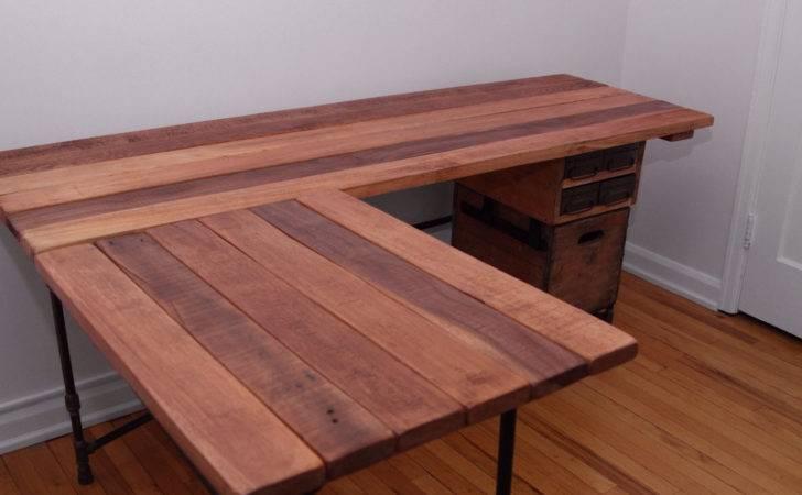 Elle Desk Reclaimed Wood Shaped Ireclaimed