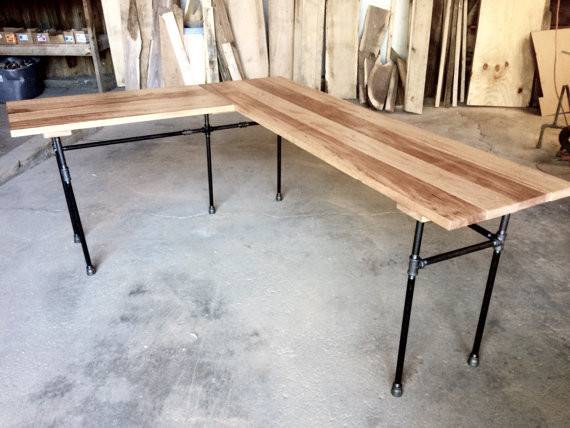 Elle Desk Reclaimed Wood Shaped Office