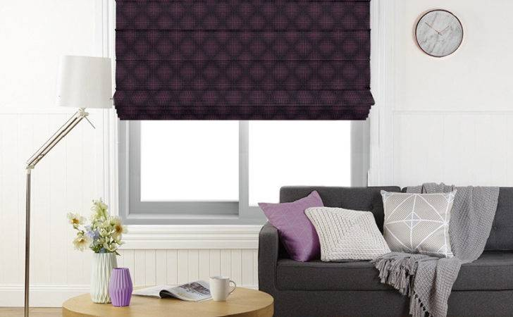 Elyza Curtains Blinds Malaysia Aron Grape Roman Blind
