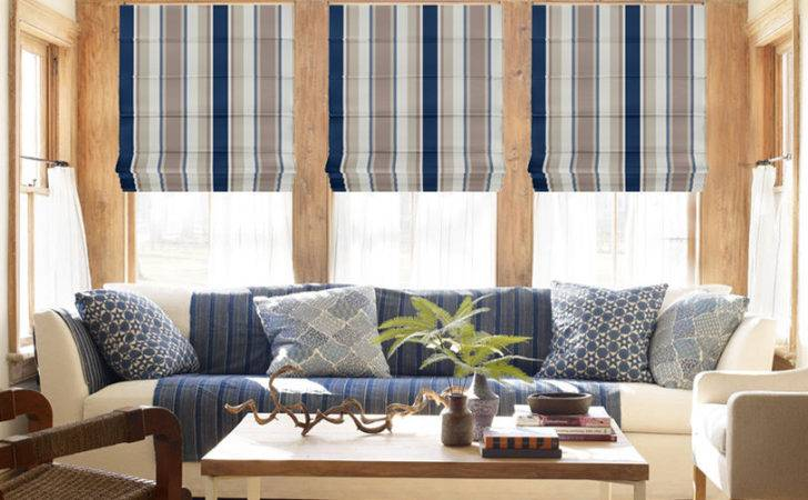 Elyza Curtains Blinds Malaysia Roman Blind Oxford Stripe