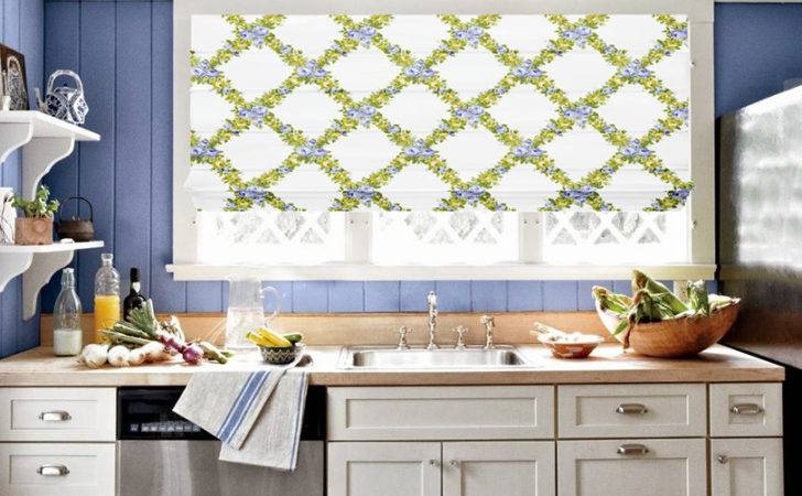 Elyza Curtains Blinds Malaysia Roman Blind Rosalind Lilac Lemon