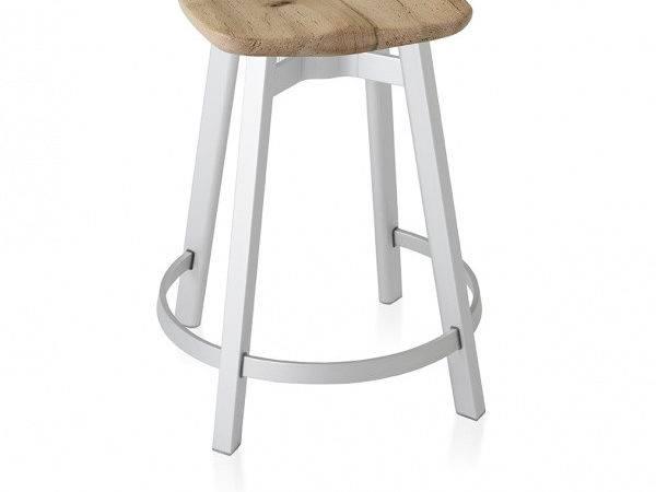 Emeco Counter Stool Reclaimed Oak Seat Questo Design