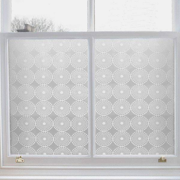 Emma Jeffs Modern Window Film Pearl Design Temporary