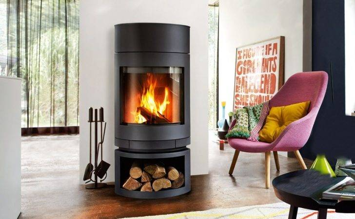Emotion Fireplace Skantherm Featuring Thermostone Unit Wood
