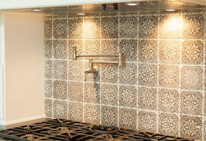 Emser Tile Eurasia Alongside Cement Backsplash