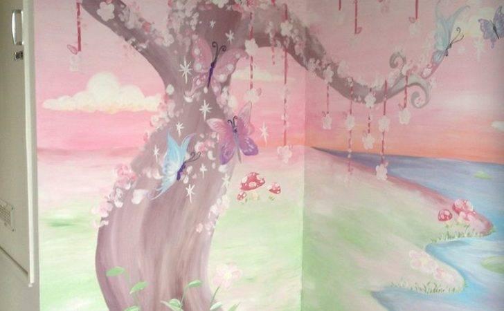 Enchanted Garden Wall Mural Little Girl Nursery