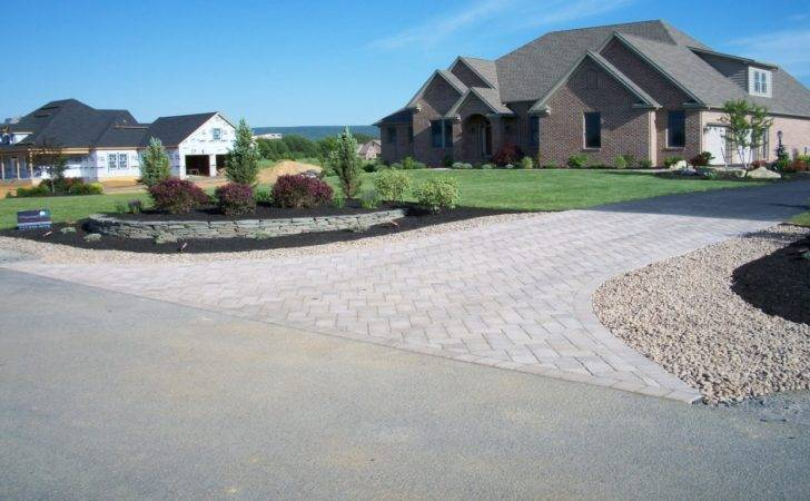 End Driveway Landscaping Ideas Entrance