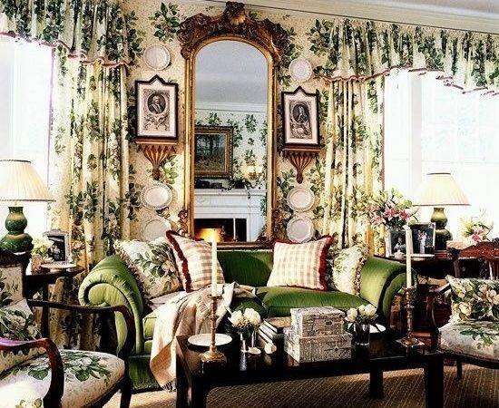 English Country Decorating Decor Green Room