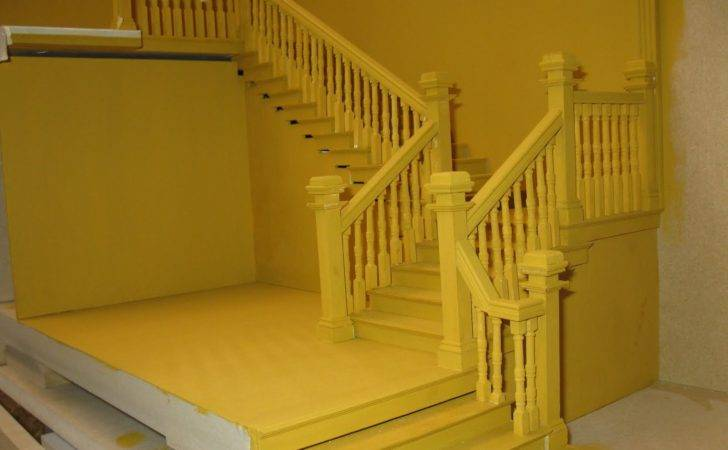 English Manor Dollhouse Miniature Scratch Grand Staircase