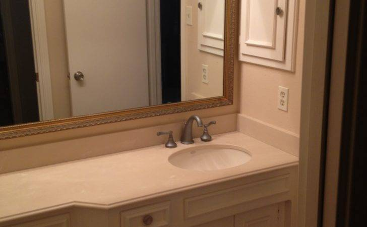 Entered Bathroom There Extended Vanitywith Seating Area
