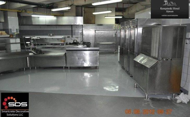 Epoxy Floor Kempinski Hotel Kitchen Barge Millennium