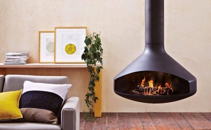 Ergofocus Suspended Wood Heater Ergo Rotates