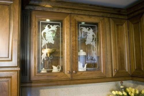 Etched Glass Kitchen Cabinet Doors Pinterest