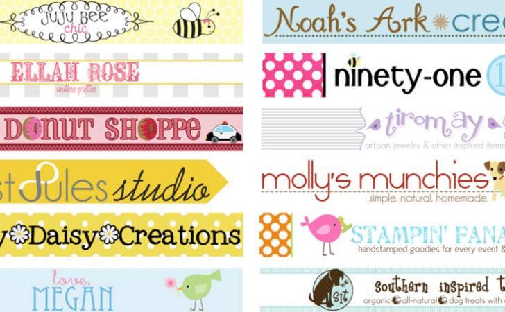 Etsy Shop Banner Buttons Add Cart Categories Logos