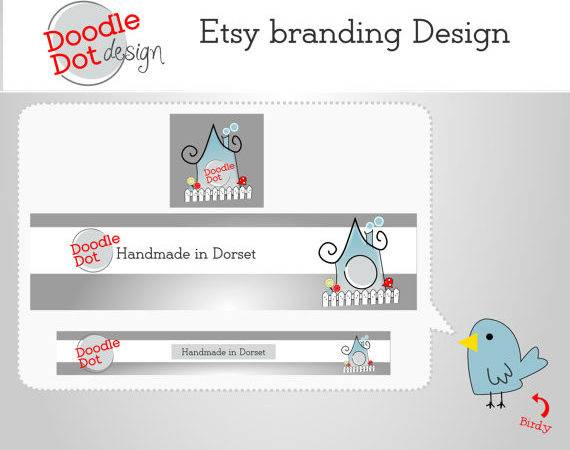 Etsy Shop Cover Banner Icon Package Custom