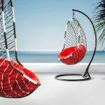 Euro Swing Chair Red Cushion Comfortable Sale