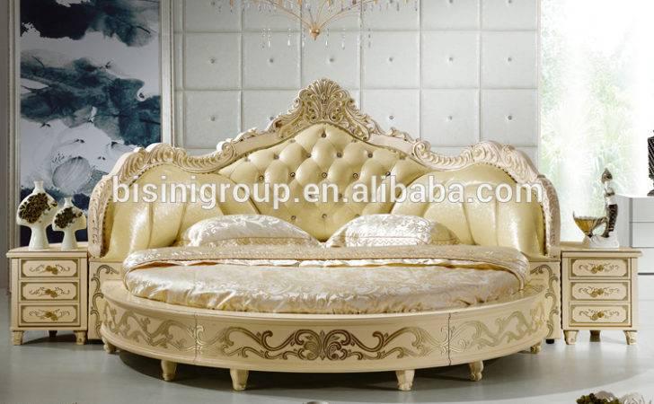 European Design Antique Bedroom Round Bed King