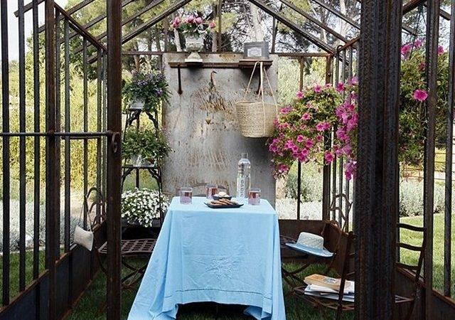 European Outdoor Dining Greenhouse Orangery Decorating Ideas