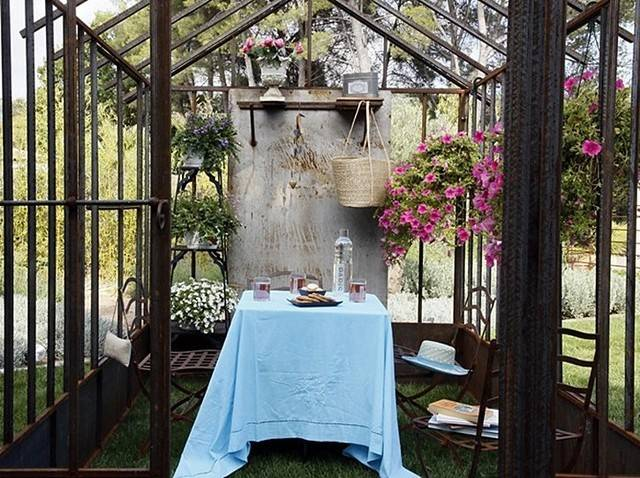 European Outdoor Dining Greenhouse Orangery Decorating Ideas