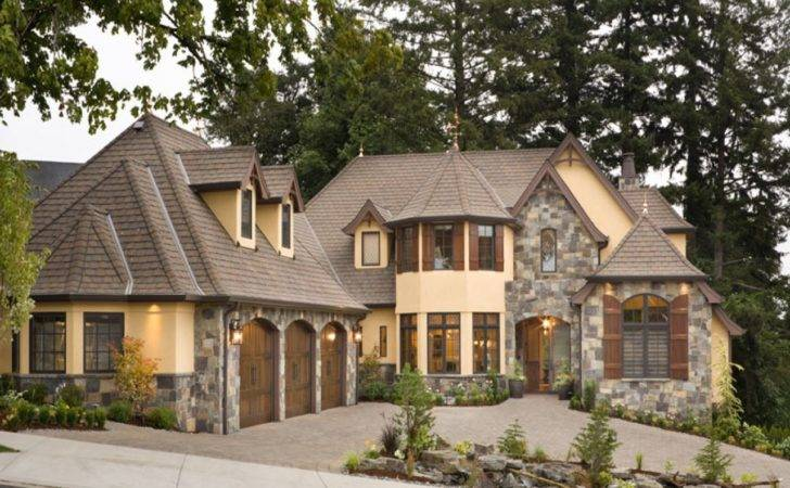 European Stone Cottage House Plans Modern