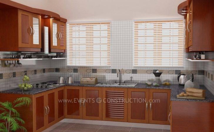 Evens Construction Pvt Ltd Simple Kerala Kitchen Design