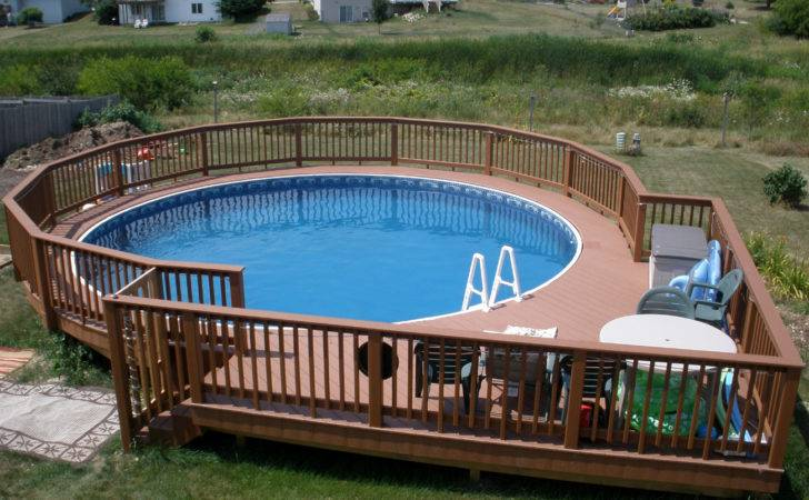 Evergrain Composite Deck Round Walkway Around Pool