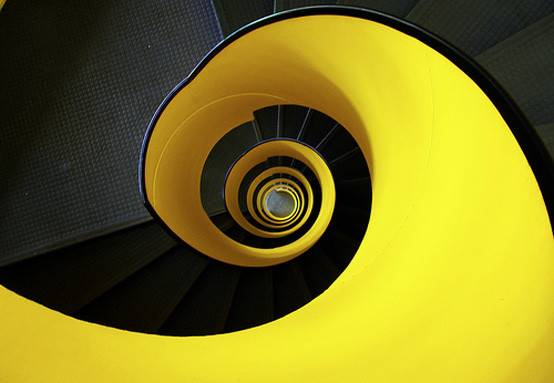 Exciting Bright Yellow Spiral Staircase Design Your Home Plans