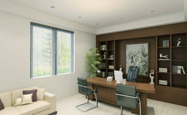 Executive Office Interior Design Modern Cabin