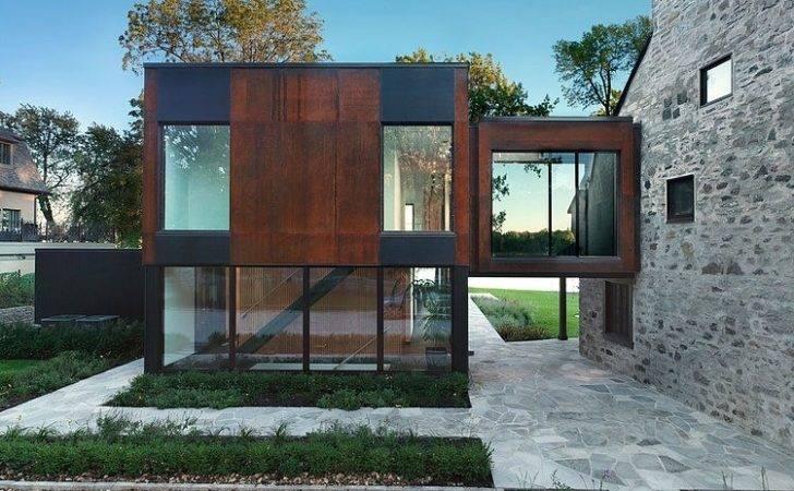 Extension Design Piscine Terasse Bois Vieille Maison